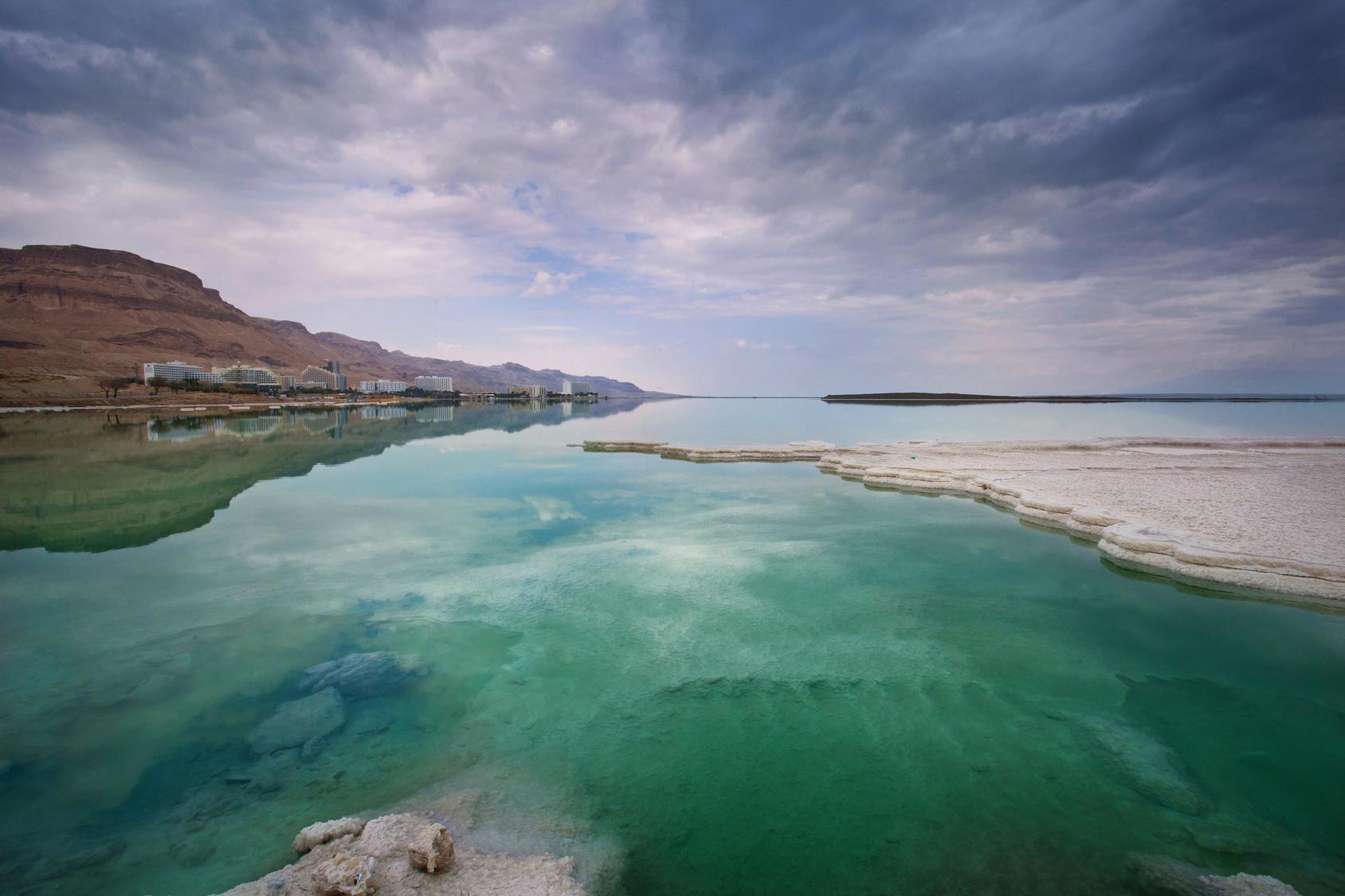 Mrtvé moře pohled z hotelů