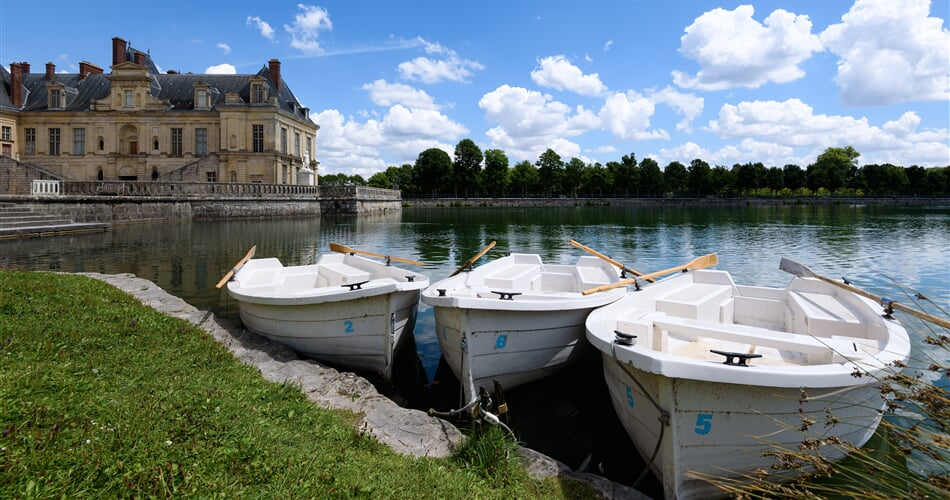 fontainebleau, rowboat, water