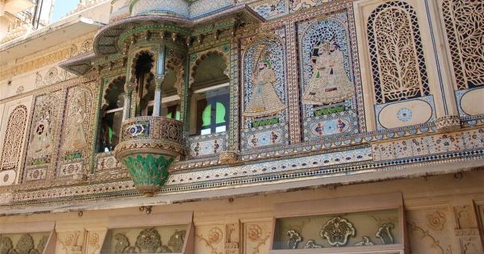Interiér mahárádžova paláce, Udajpur